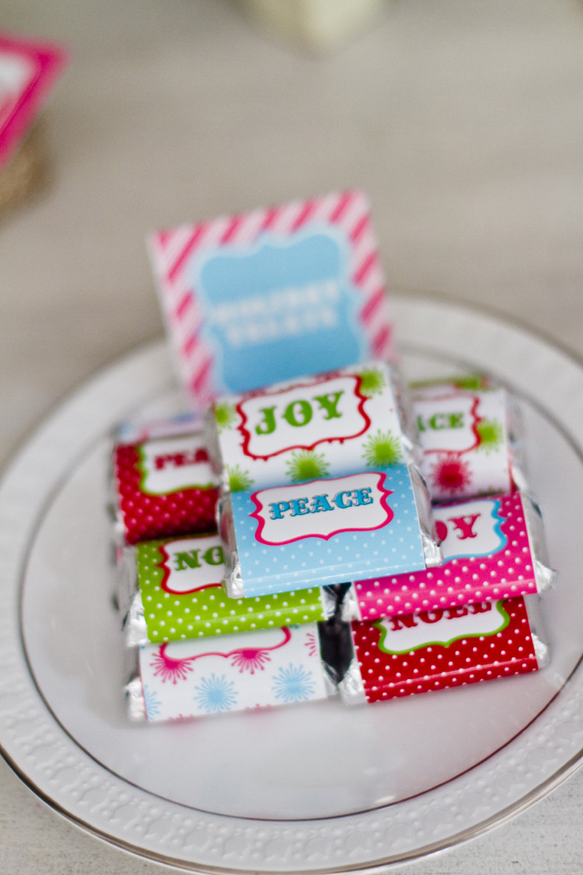 christmas chocolate bar favors