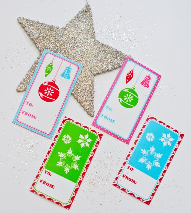 vintage christmas favor tags