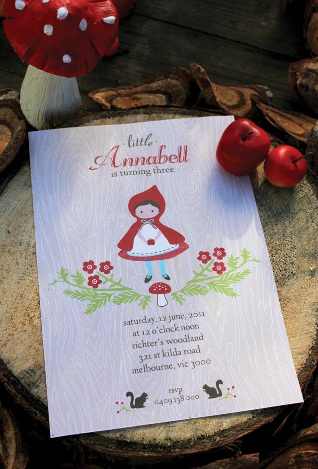 Red Riding Hood Invitation
