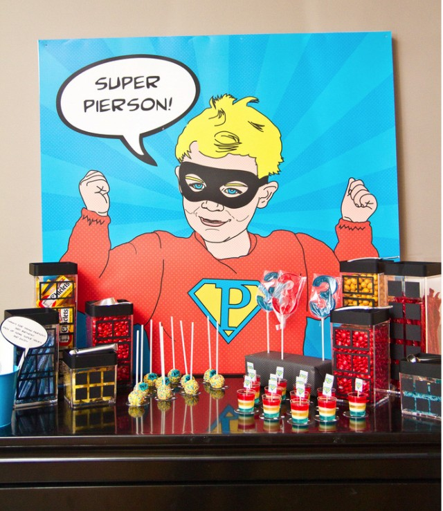 Pop Art Super Hero Candy Bar