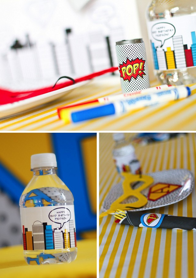 Place Settings for Super Hero birthday party
