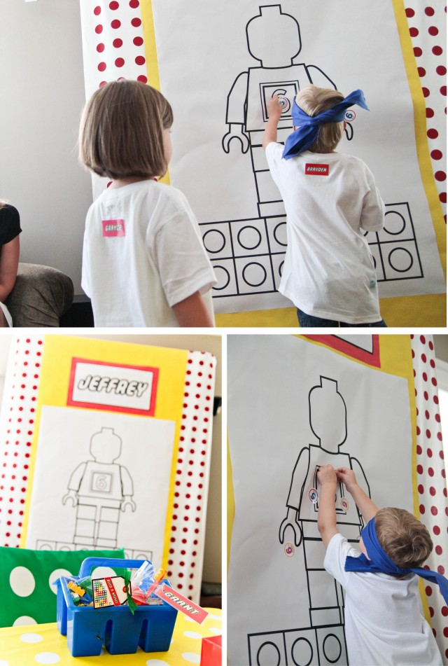 pin the 6 on the lego man