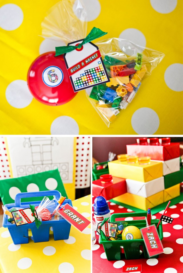 build a Lego magnet activity