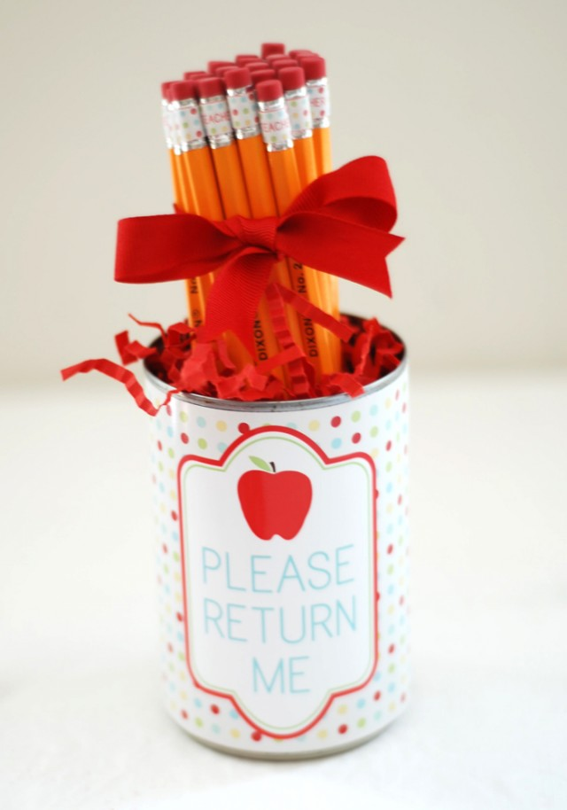 DIY Pencil Holder Teachers Gift + Back To School Clip Art