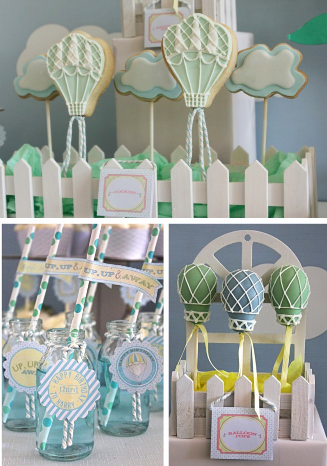 Hot Air Balloon Birthday party Photo Treats