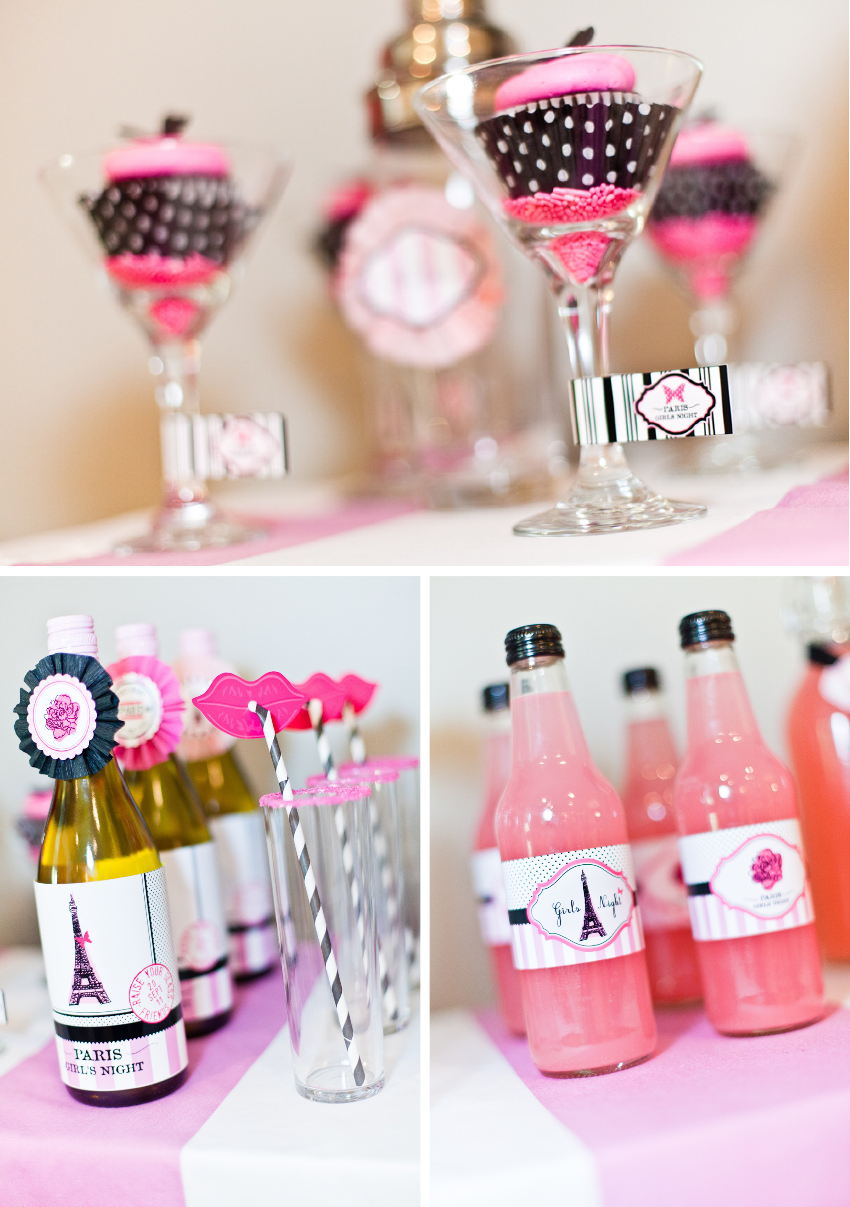 Bridesmaids girls night in photo shoot the mini bar for Bachelorette party decoration