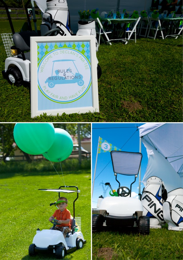 Golf Birthday Party Signs