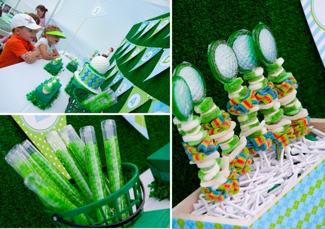 Golf Birthday Party Desserts and candies