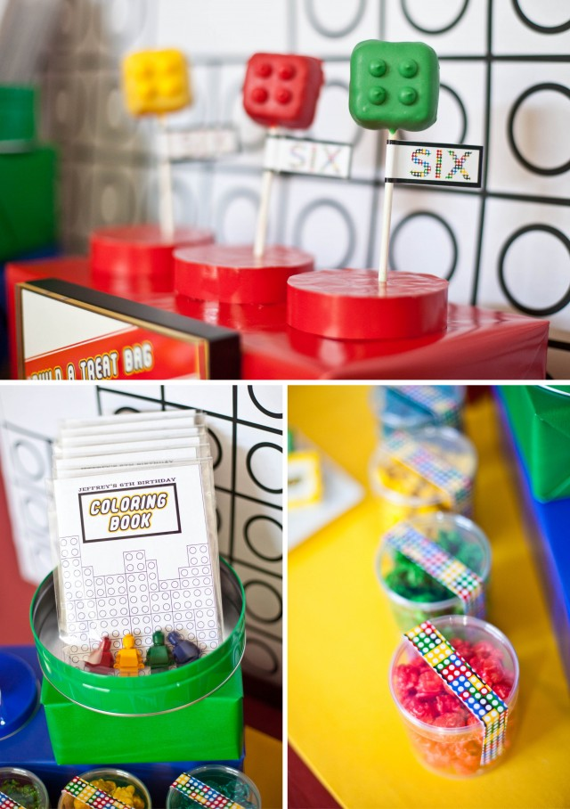 Lego party favor Table