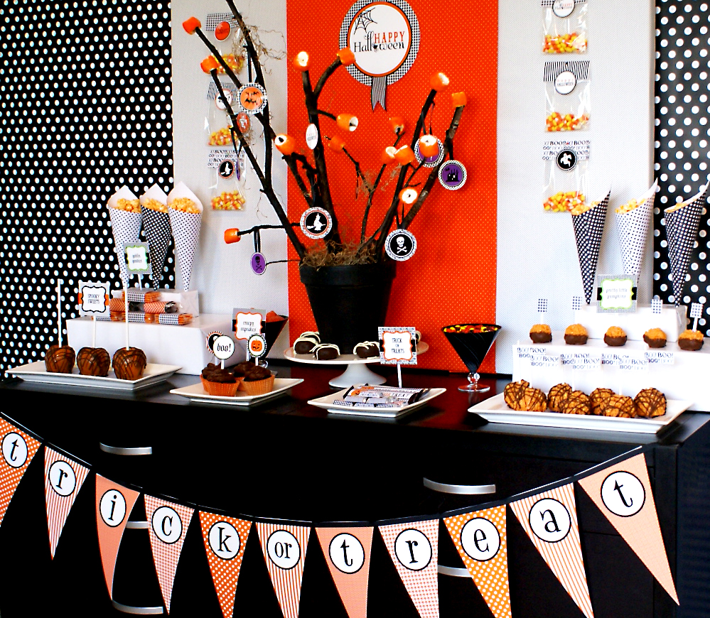 happy halloween printable collection for a party