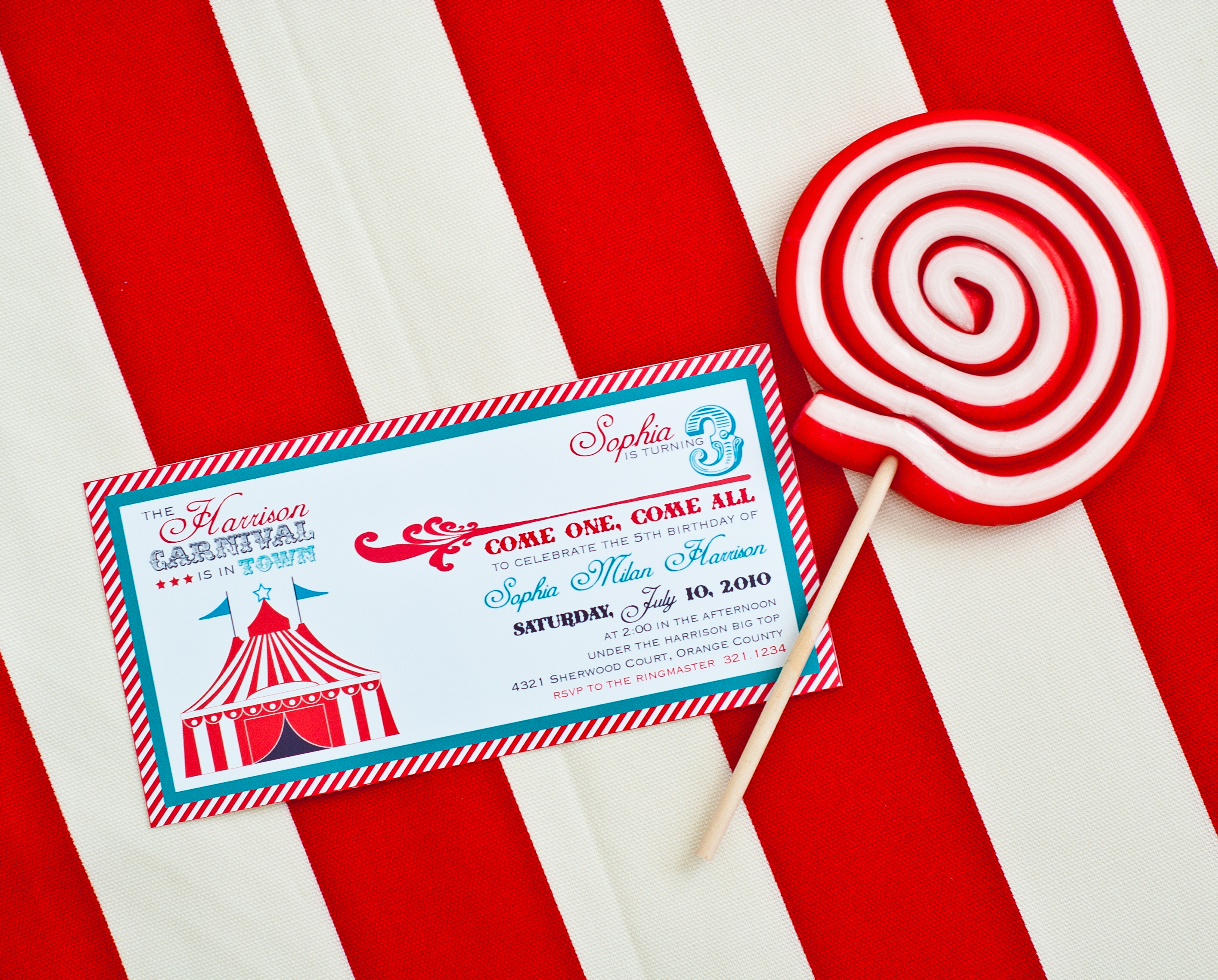 Amy Styled Her Party Using Our Printable Vintage Carnival Collection