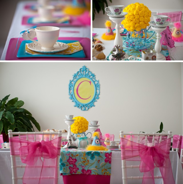 tea doll party room and table setup 3