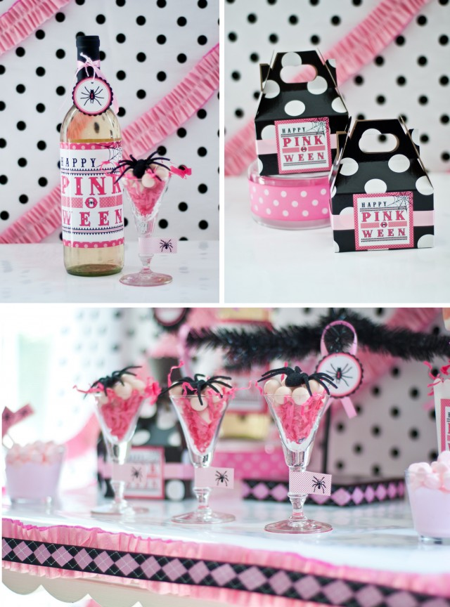 pink halloween party printable design collection 3