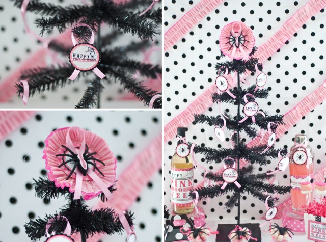 pink halloween party printable design collection 6