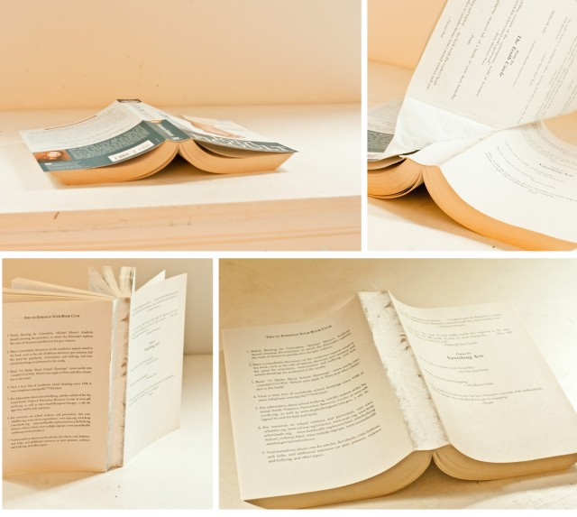 Removing Outer Layer of Book Cover