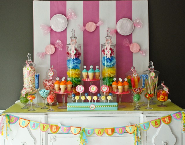 Grayces Candyland Birthday Party - Anders Ruff Custom Designs, LLC