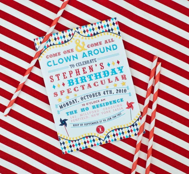 Vintage Carnival Birthday Party Invitation Printables Clown party