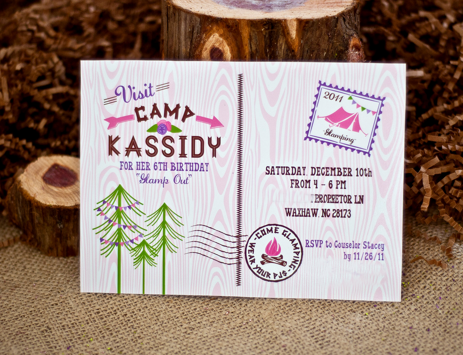 17 Best Ideas About Camping Birthday Invitations On Pinterest ...