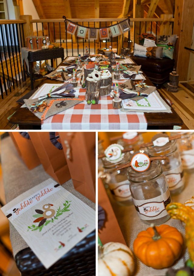 Thanksgiving Kids Table Printables Photoshoot main table