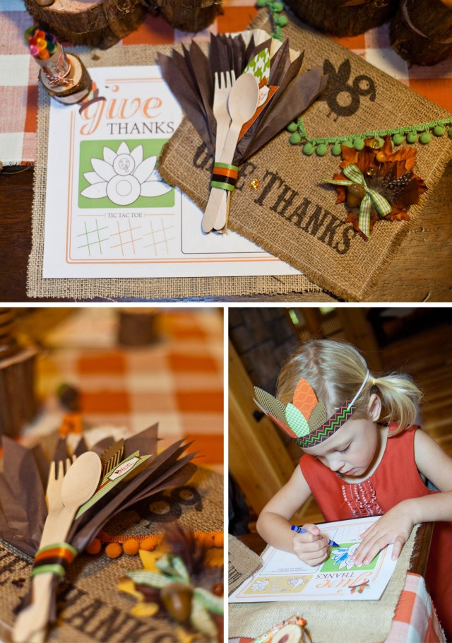 Thanksgiving Kids Table Printables Photoshoot party
