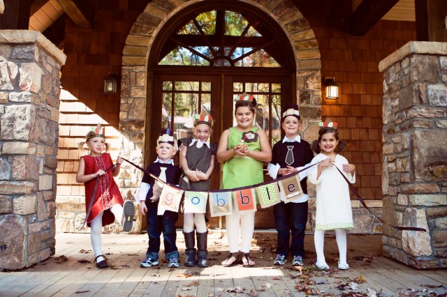 Thanksgiving Kids Party Banner