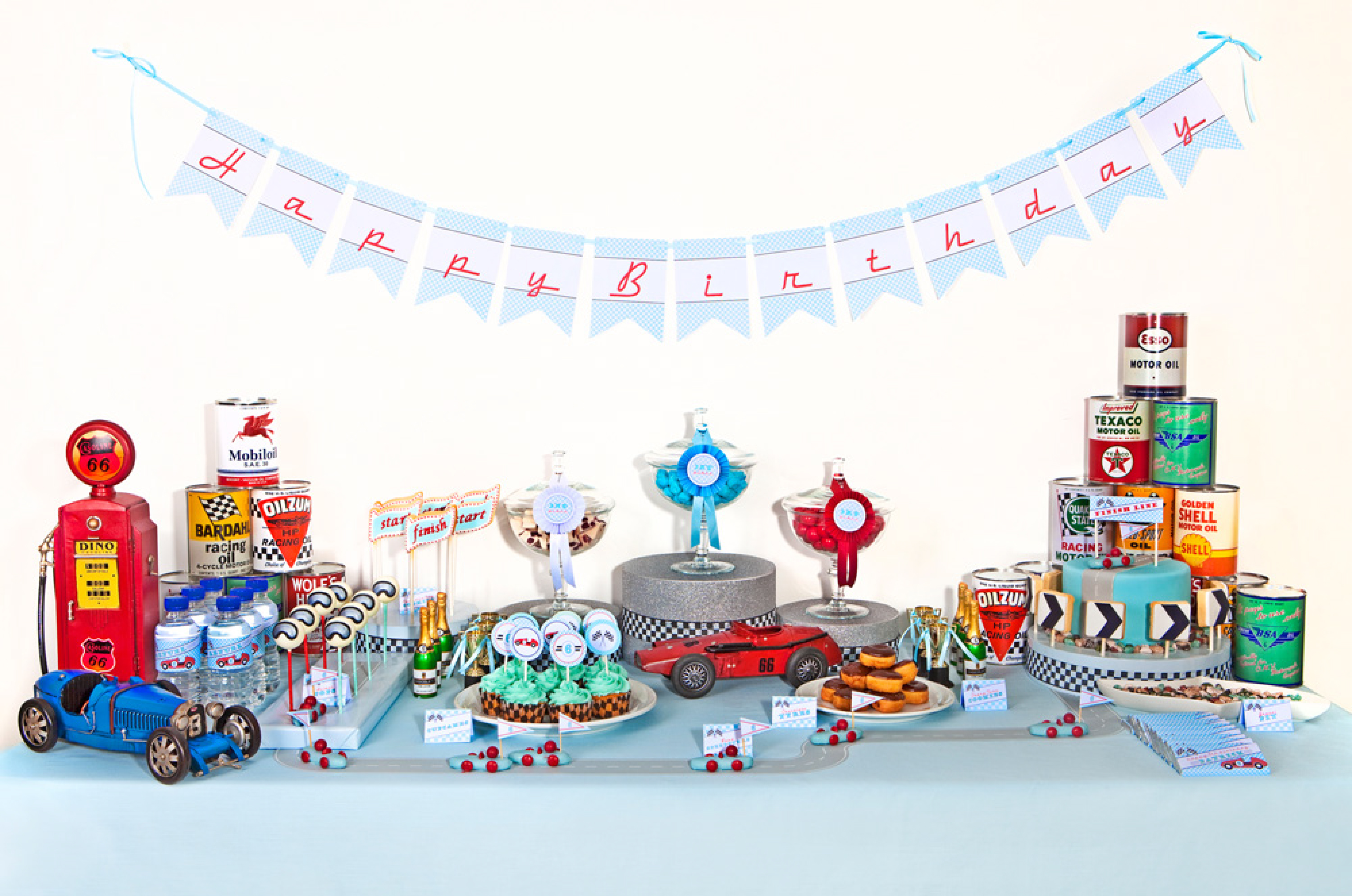 vintage race car printables anders ruff dessert table
