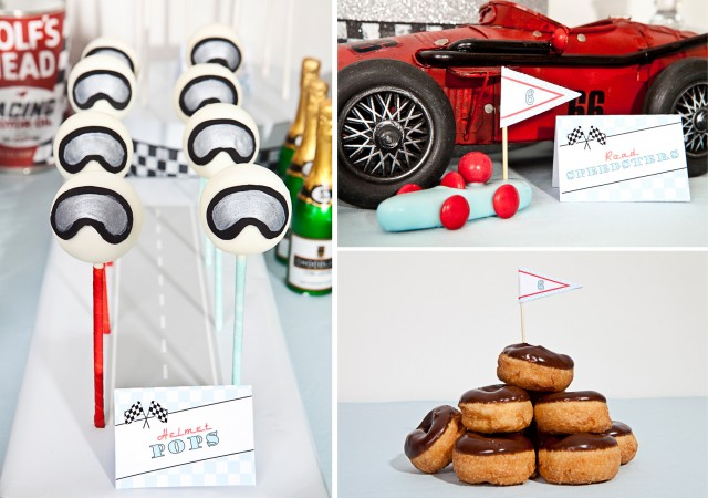 vintage race car printables desserts