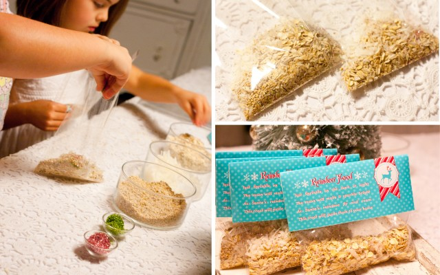 Fill the bags with your Reindeer Food and tape the label to the top of ...