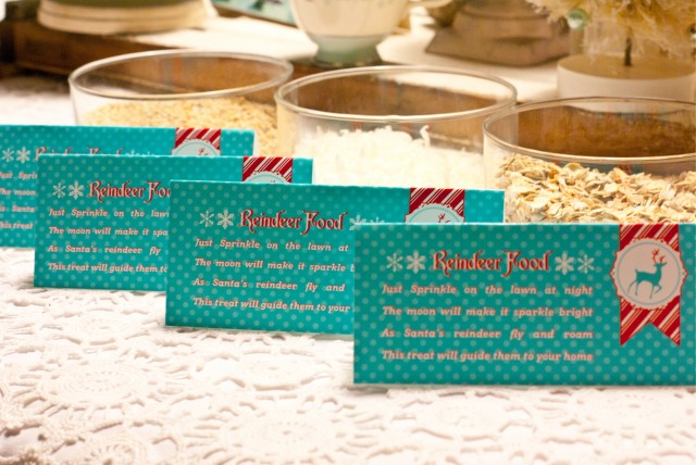 Magic reindeer food holiday and seasonal crafts for kids party