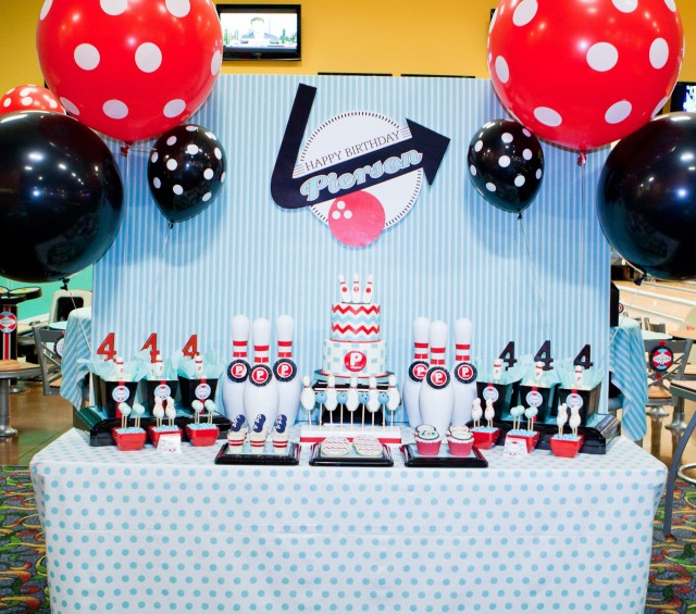 Pierson S Retro Bowling Party Anders Ruff Custom Designs