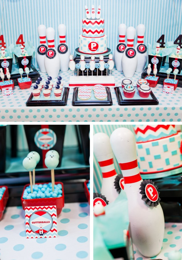Pierson 39 s retro bowling party anders ruff custom designs for Decoration quille de bowling