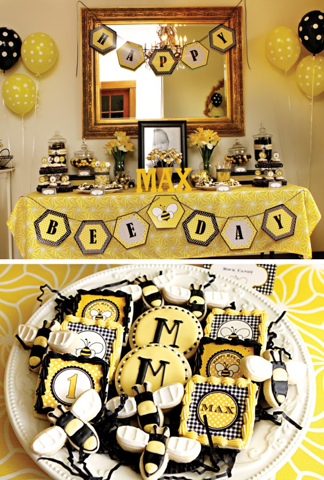 Maxs 1st Bee Day Party