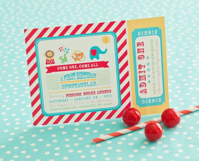 A Whimsical Circus First Birthday Party Anders Ruff Custom – First Birthday Printable Invitations