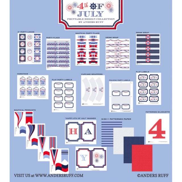 4th of july nautical collection