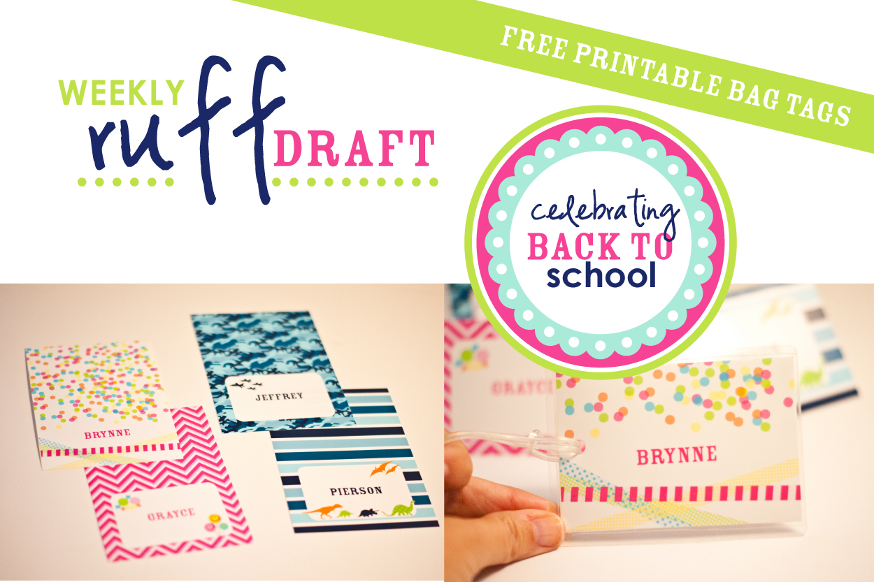 Ruff Draft - Getting Ready for Back To School with New Personalizable ...