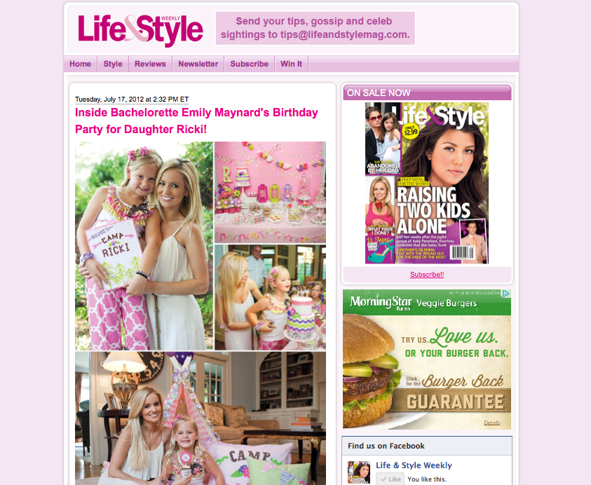 Life and style magazines