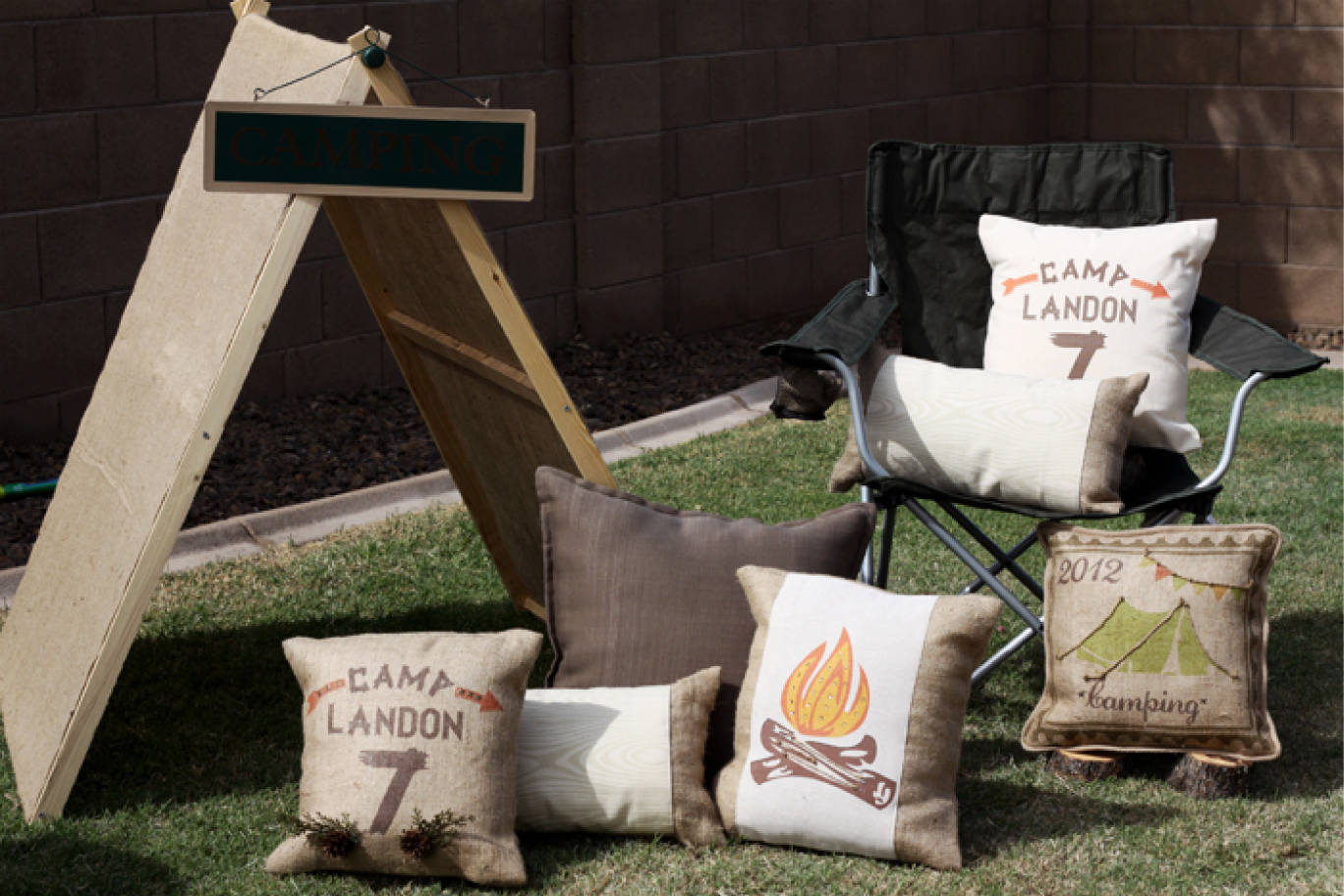 A Backyard Camping Birthday Party