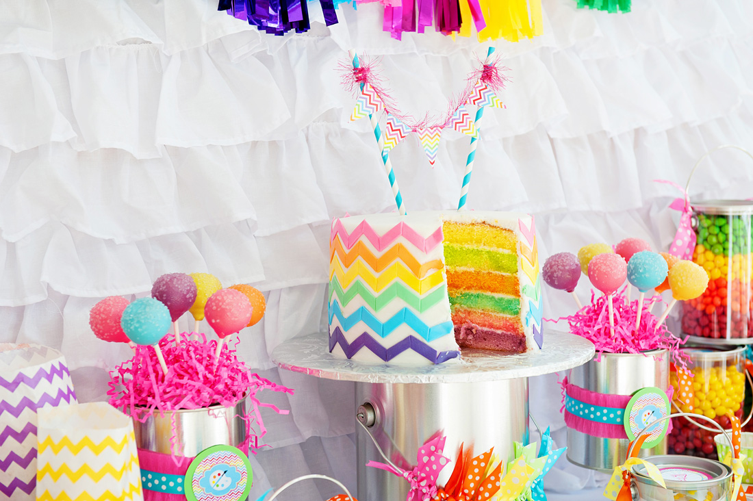Arts and crafts party ideas - A Bright And Trendy Chevron Arts And Crafts Party