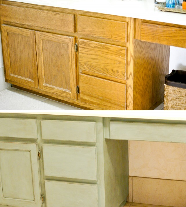 before after bathroom cabinets - Painted Bathroom Cabinets Before And After
