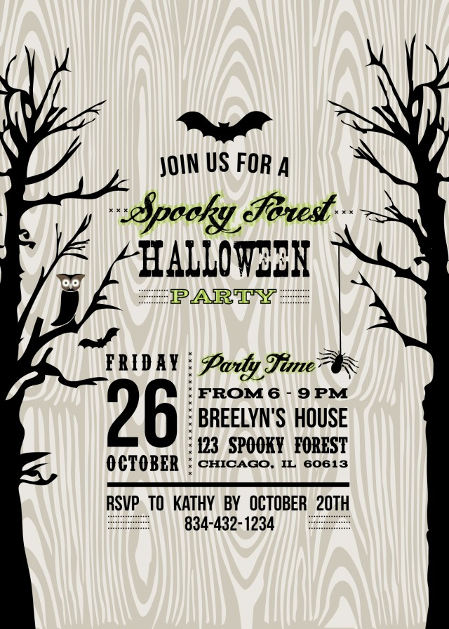Halloween Party Invite Template | ceylinks.com