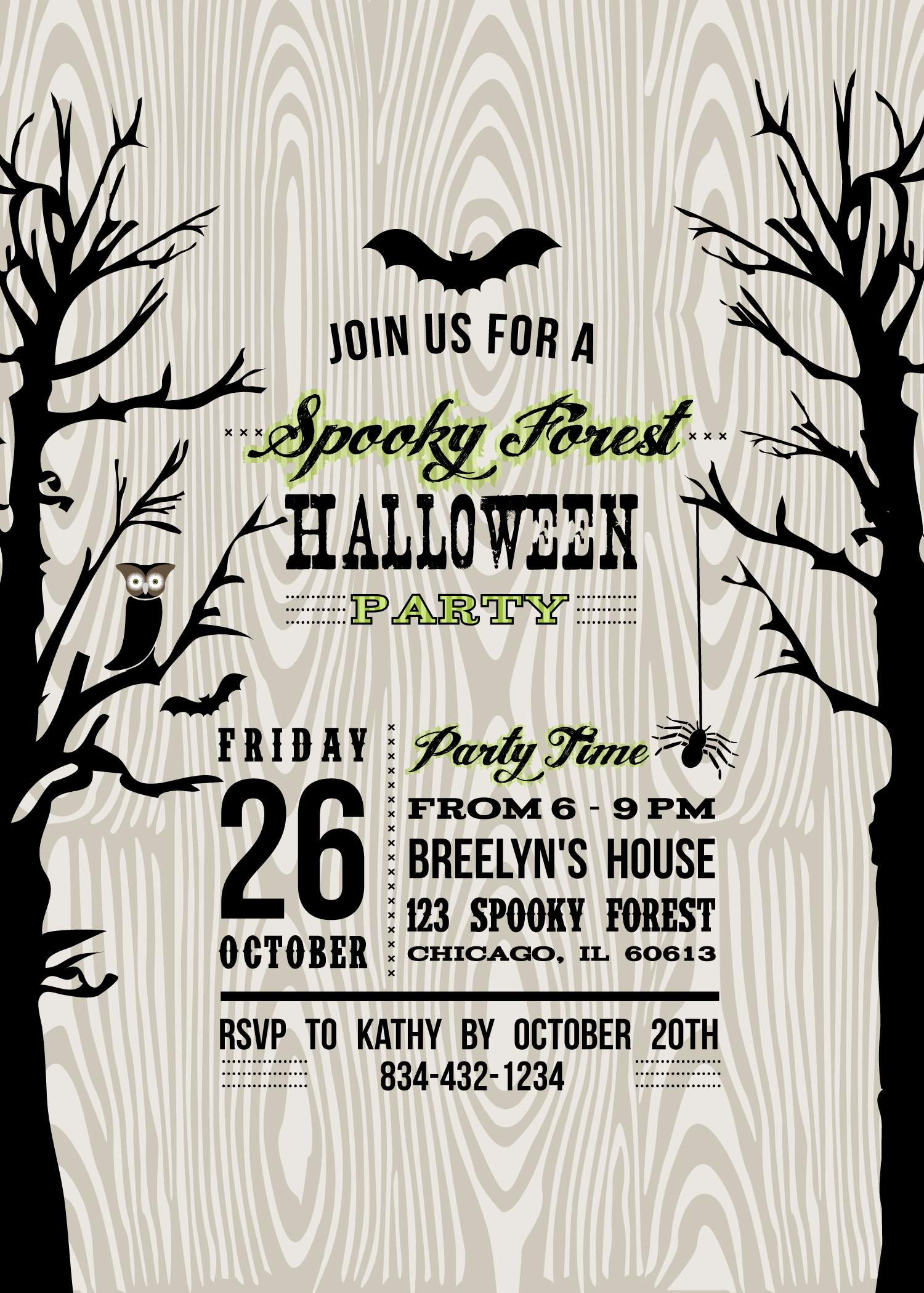 It is a picture of Remarkable Free Halloween Invitation Templates Printable