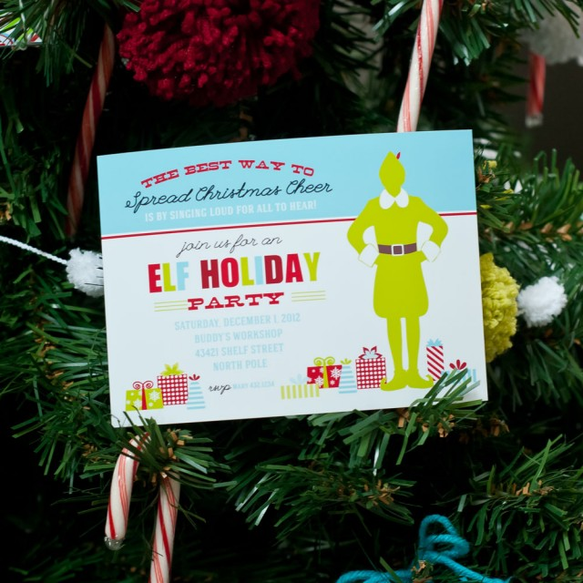 buddy the elf invitation