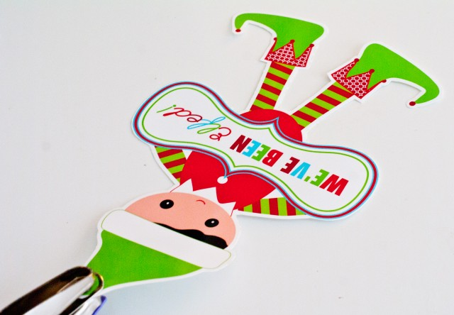 cut out elf with punch a hole