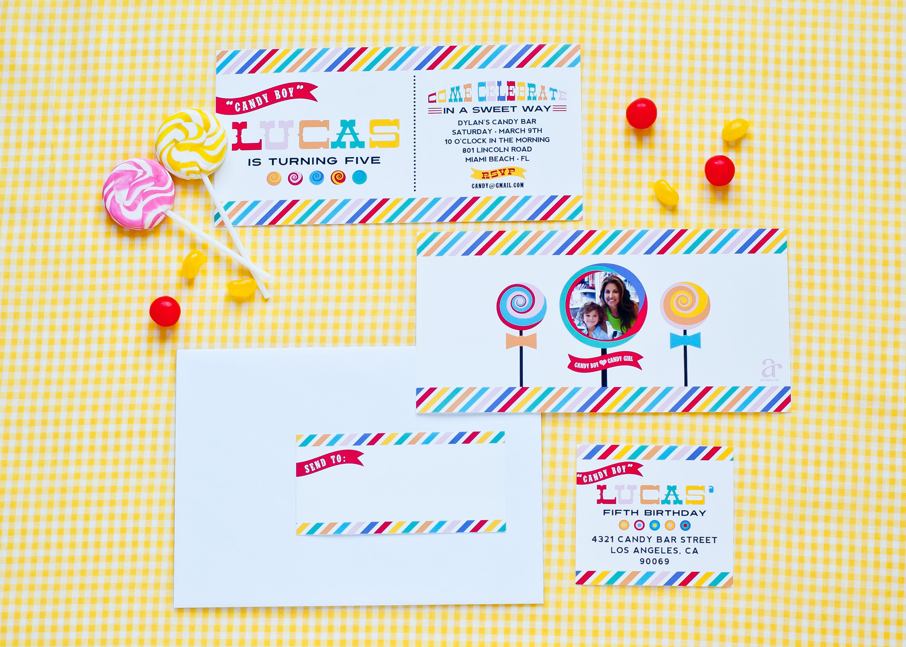 candy party invitation
