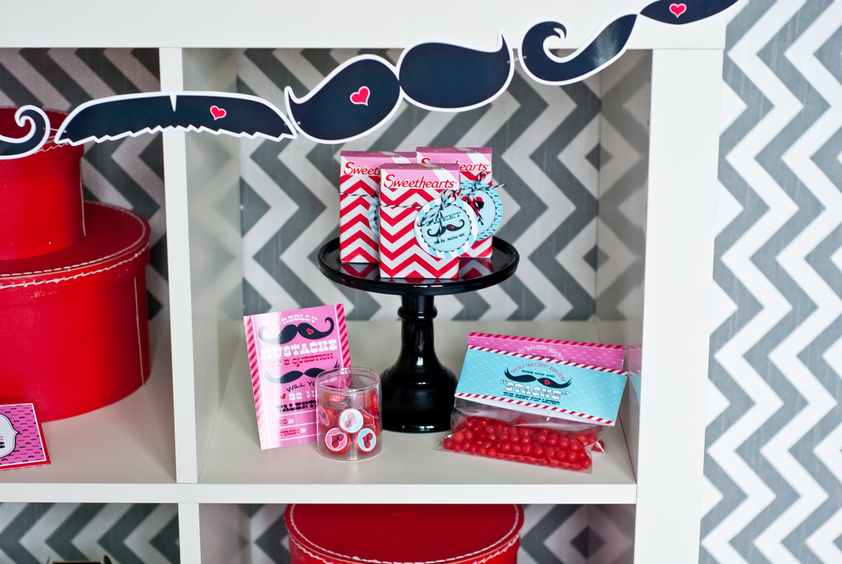 Mustache Valentines Day Party Printables and Cards – Mustache Valentine Cards