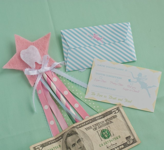 tooth fairy printable card and envelope
