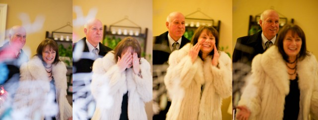 winter-wonderland-birthday-girl-arrival-surprise-60th-birthday-party