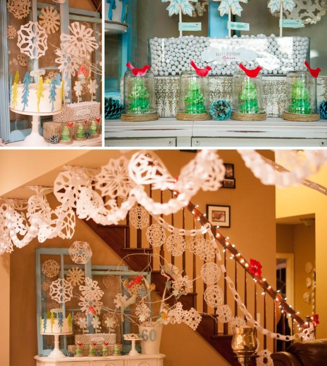 winter-wonderland-dessert-table-garland-snow-globes-meringue-chocolate-trees-red-birds