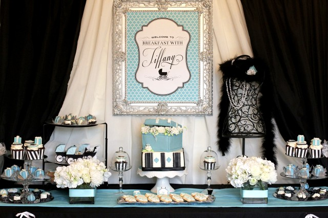 When You Have A Gorgeous U0026 Glamorous Friend Named Tiffany Who Just So  Happens To Be Expecting A Baby Boy, Hosting A U201cBreakfast With Tiffanyu201d Baby  Shower Is ...