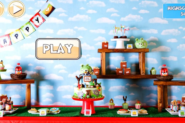 Now launching an angry bird day celebration angry birds inspired from their game playing you will see artificial grass bird nests wooden building blocks used as shelves wood slingshots raffia twine etc solutioingenieria Gallery